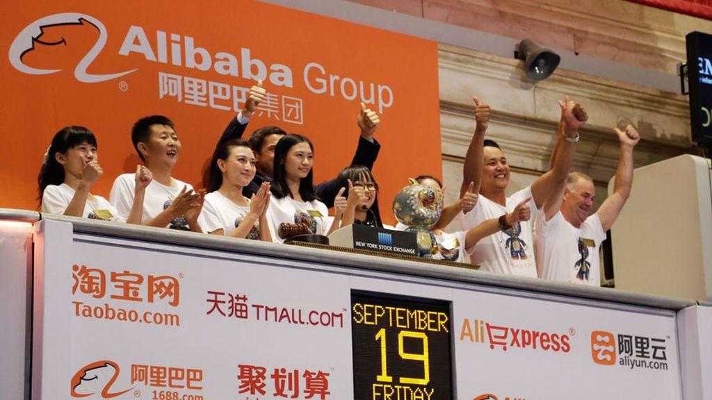 La china Alibaba debuta en la Bolsa de Nueva York con una subida del 36,3%