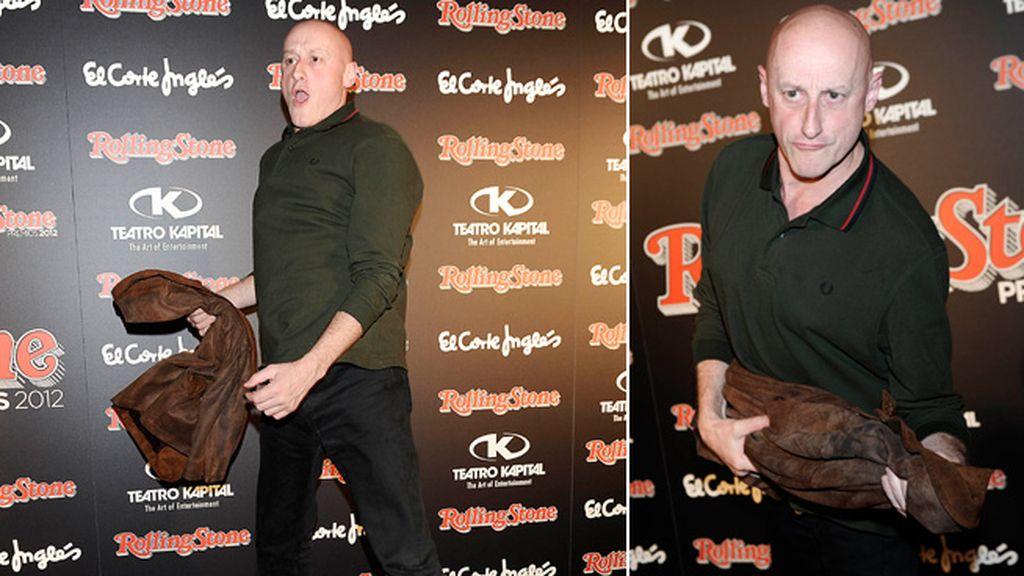 El cantante Jorge Martínez, disfrutó bailando por el photocall