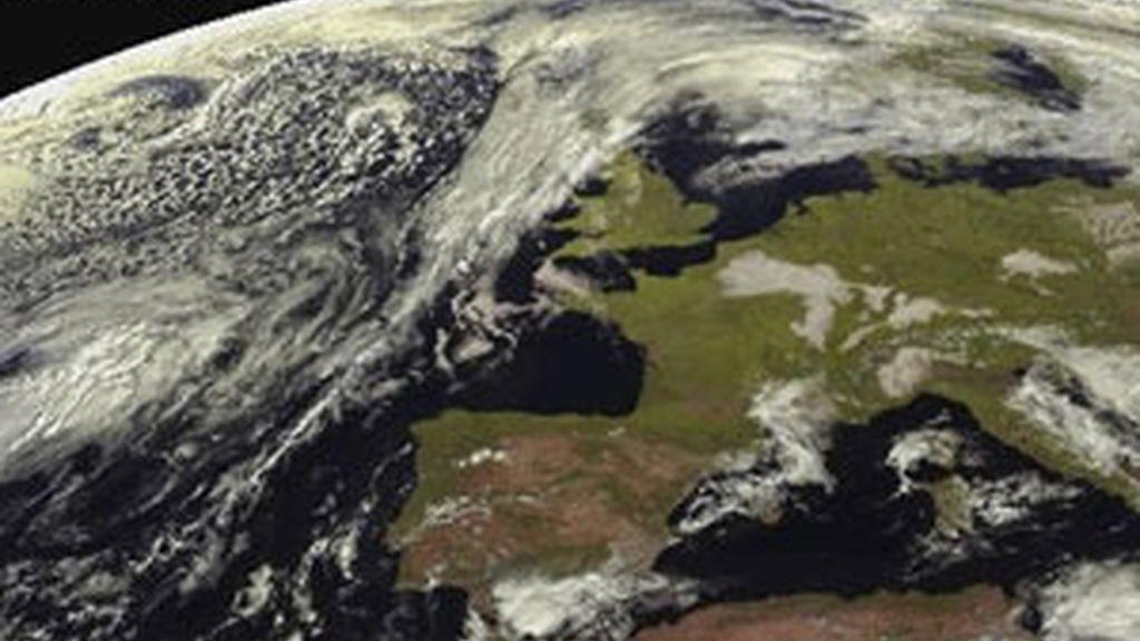 Imagen tomada por el satélite Meteosat. Foto: EFE