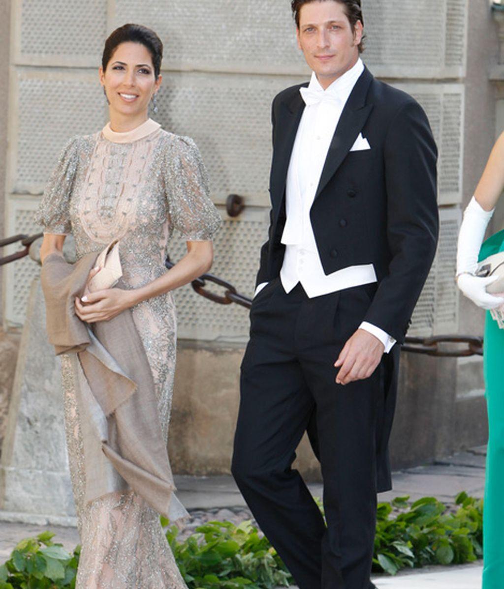 Luis Medina y la princesa Madeleine