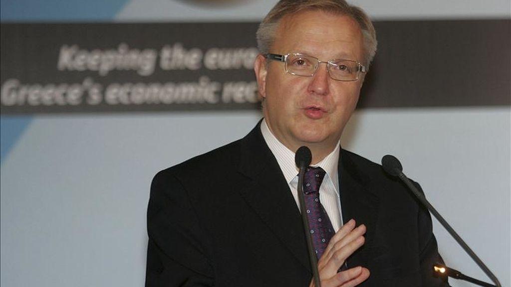 El comisario europeo de Finanzas, Olli Rehn. EFE/Archivo