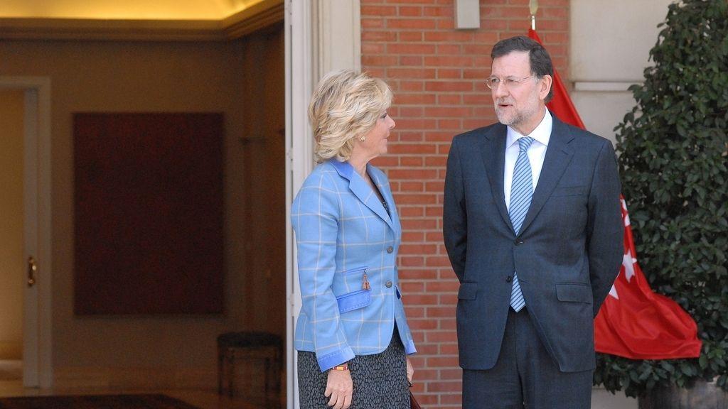 Esperanza Aguirre y Mariano Rajoy en Moncloa