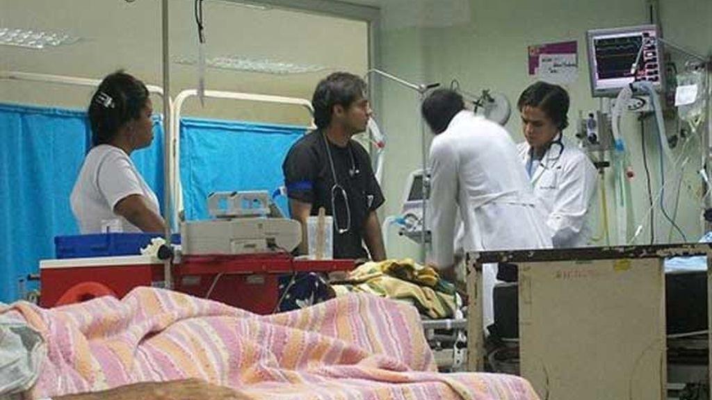 Actividades de primeros auxilios. Foto: EP