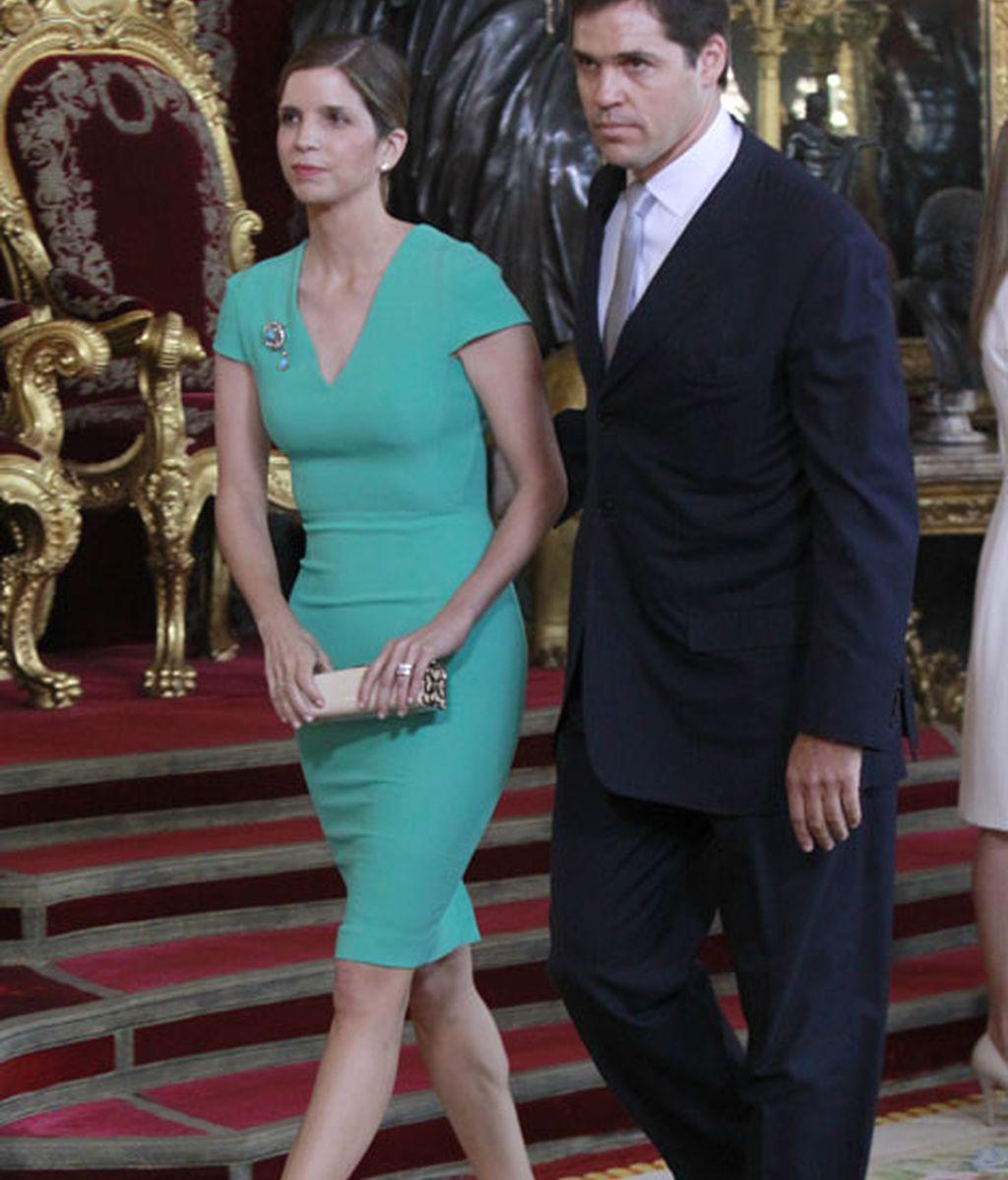 Margarita Vargas ha acudido junto a Luis Alfonso de Borbón
