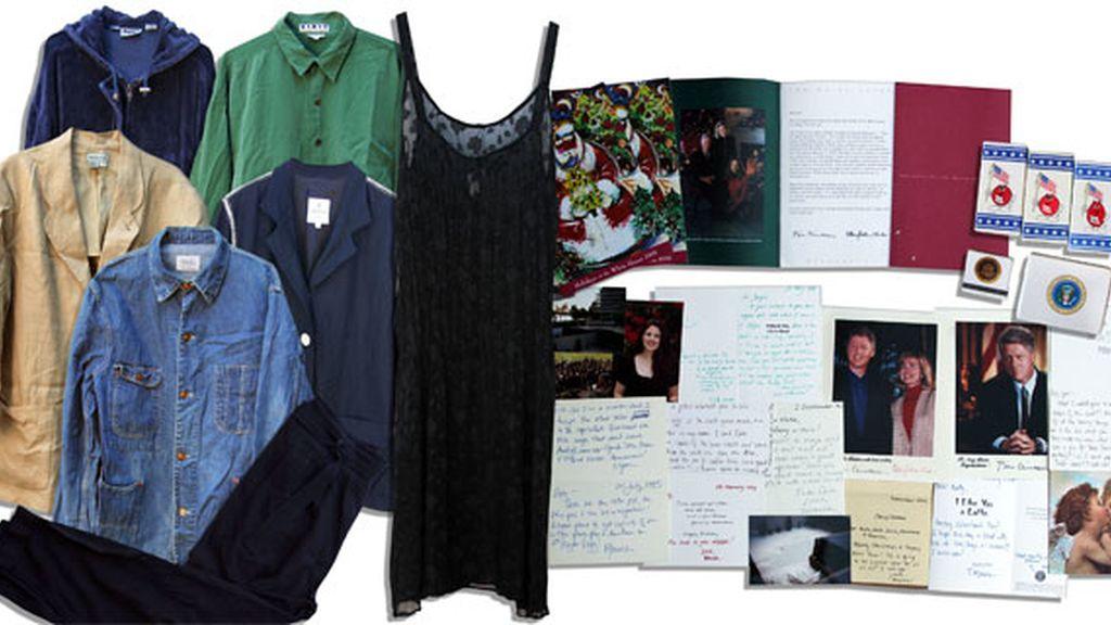Lote de objetos a subastar de Mónica Lewinsky