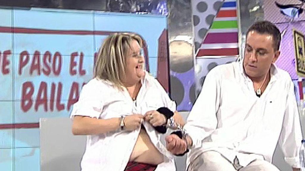 La gogó dedica un streptease a Kiko Hernández