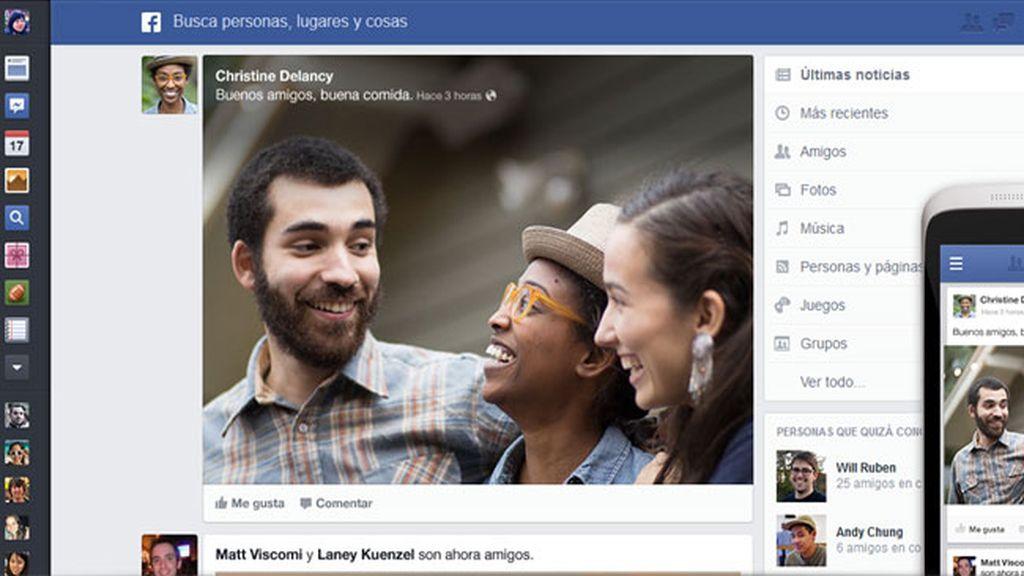 Facebook organiza las noticias y fotos con el nuevo 'News feed'