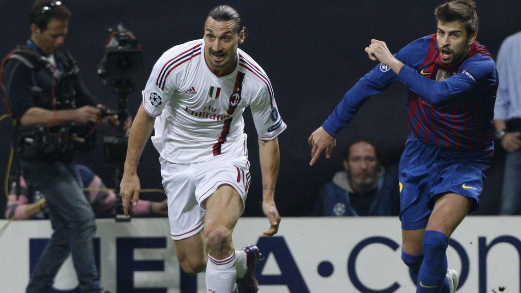 Pique e Ibrahimovic