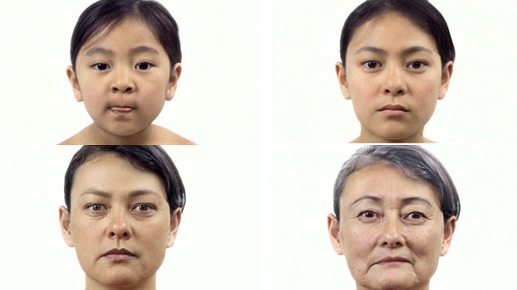 Crean una animación que refleja el proceso de envejecimiento de una persona con imágenes