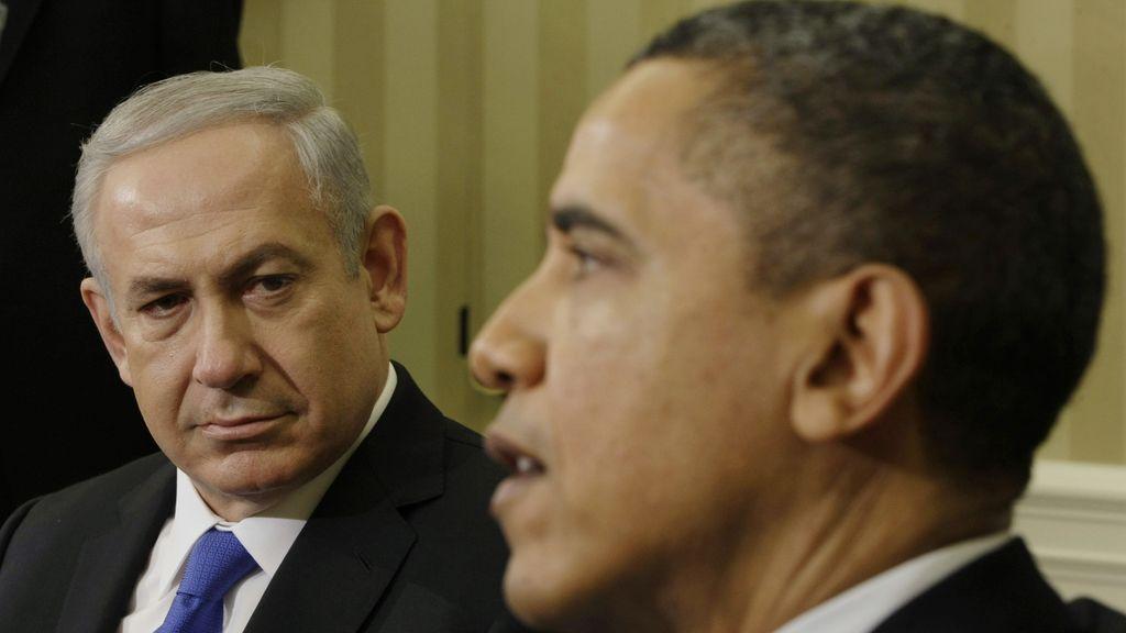 El presidente de Estados Unidos, Barack Obama, y el primer ministro israelí, Benjamin Netanyahu