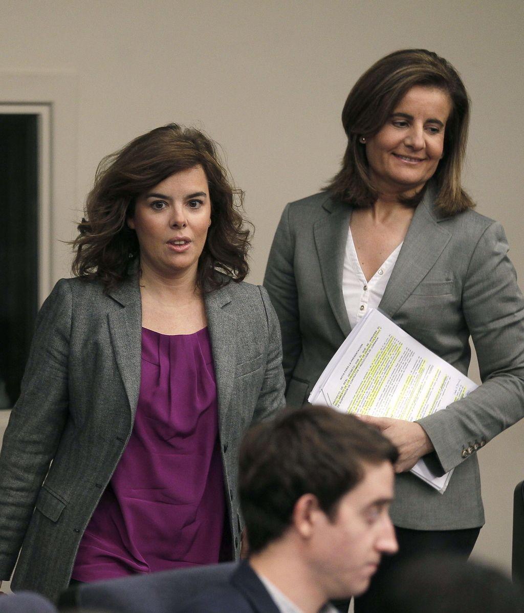 Soraya Sáenz Santamaría y Fátima Báñez