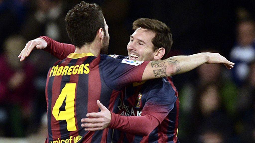 Messi, tras marcar en Anoeta