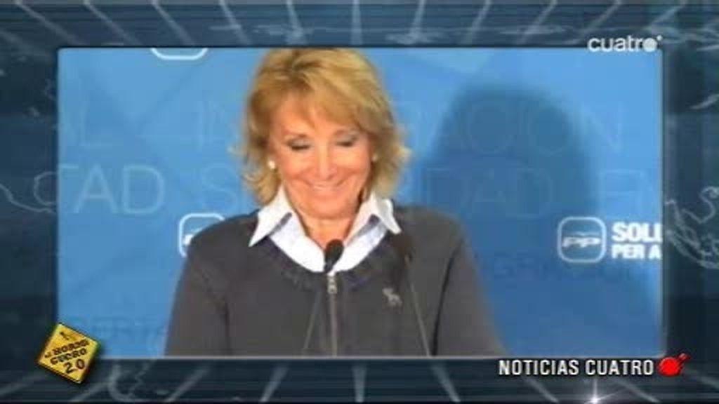 Las verdaderas declaraciones en catalán de Esperanza Aguirre