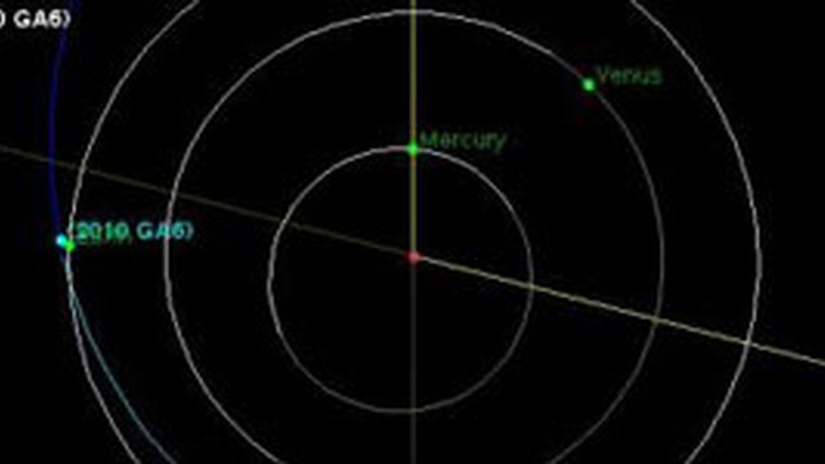 Imagen de un radar de la NASA que detecta la cercanía del asteroide. Foto: NASA