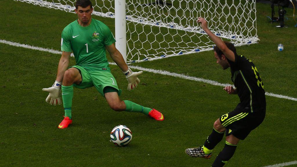 Mata cerró la cuenta goleadora en el Mundial con el tercero ante Australia