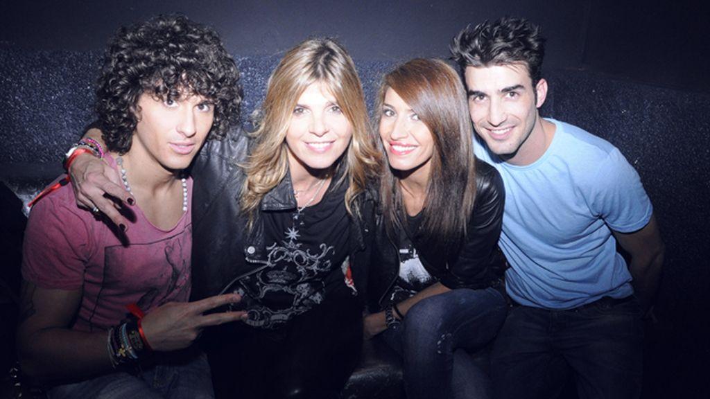 Agustín Etienne, Arancha de Benito, Bárbara Muñoz y Adrián Rodríguez