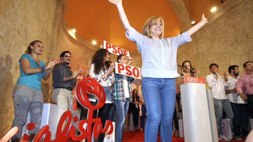 Mitin de Elena Valenciano (PSOE) en Salamanca