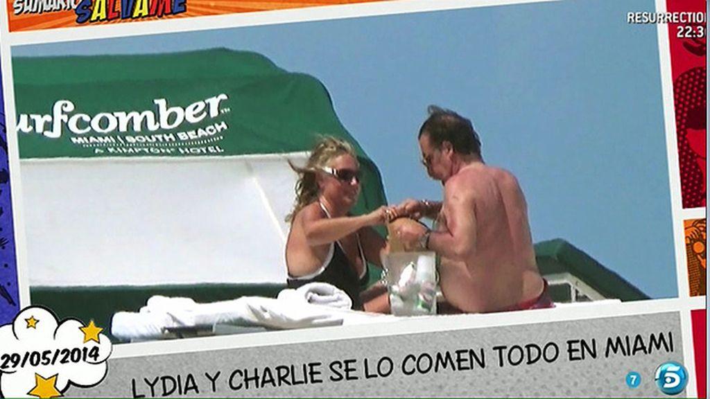 La colaboradora y su marido disfrutaron del sol, la playa... y una suculenta hamburguesa