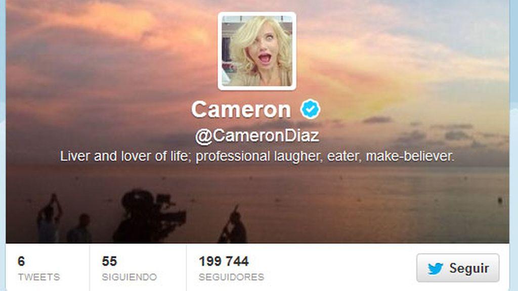 Cameron Diaz,recién llegada,Twitter