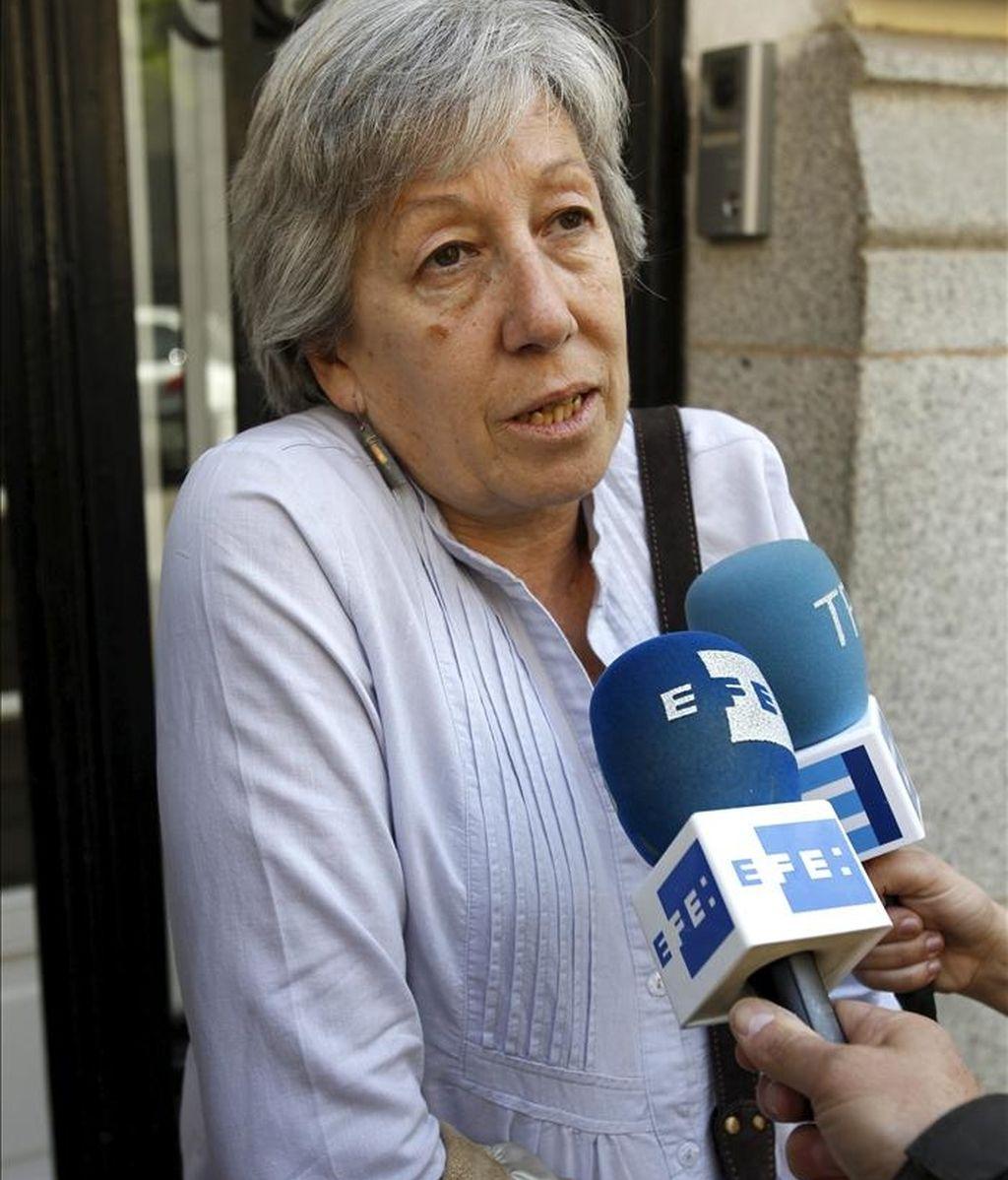 Victoria Bravo, madre de Manu Brabo, fotógrafo retenido en Libia. EFE/Archivo