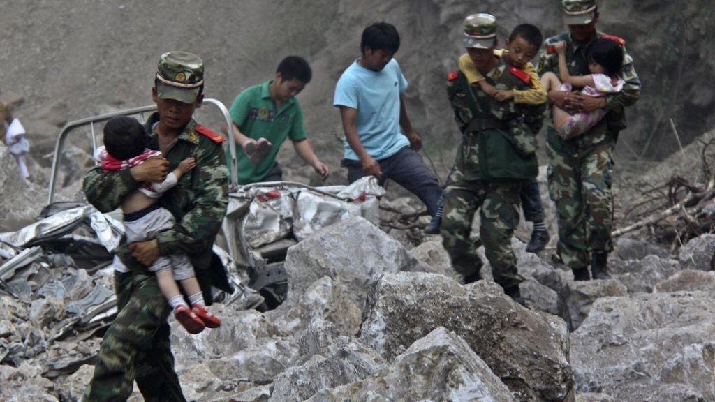 Terremoto en China. Foto: Reuters