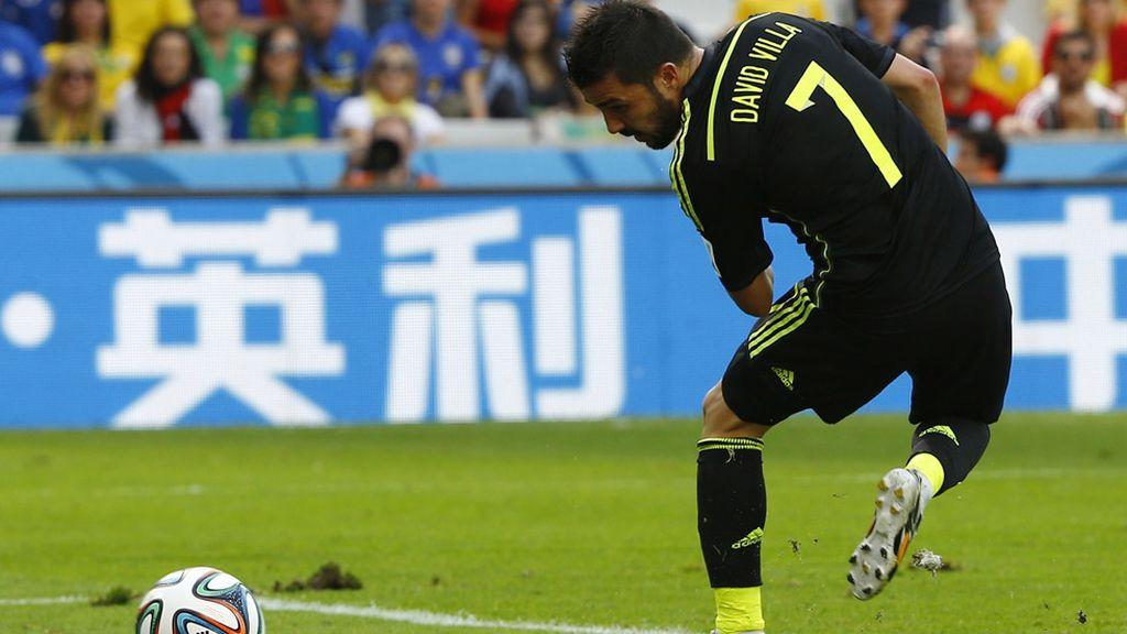 Villa anotó de tacón su último gol con la selección