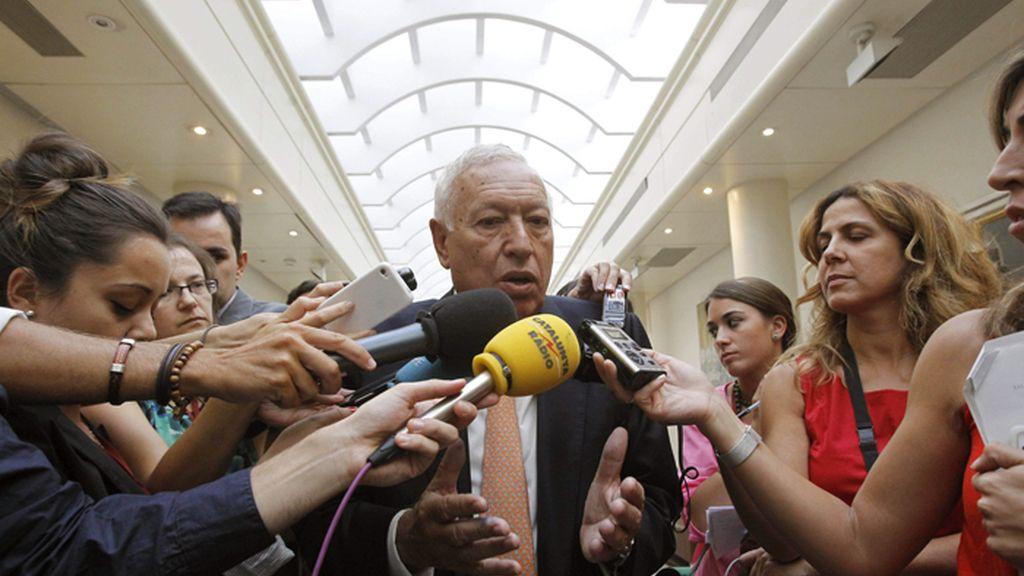 Margallo aborda en el Senado el conflicto de Gibraltar