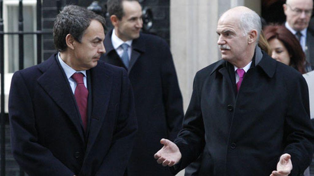 2010: Zapatero con su homólogo griego Papandreou
