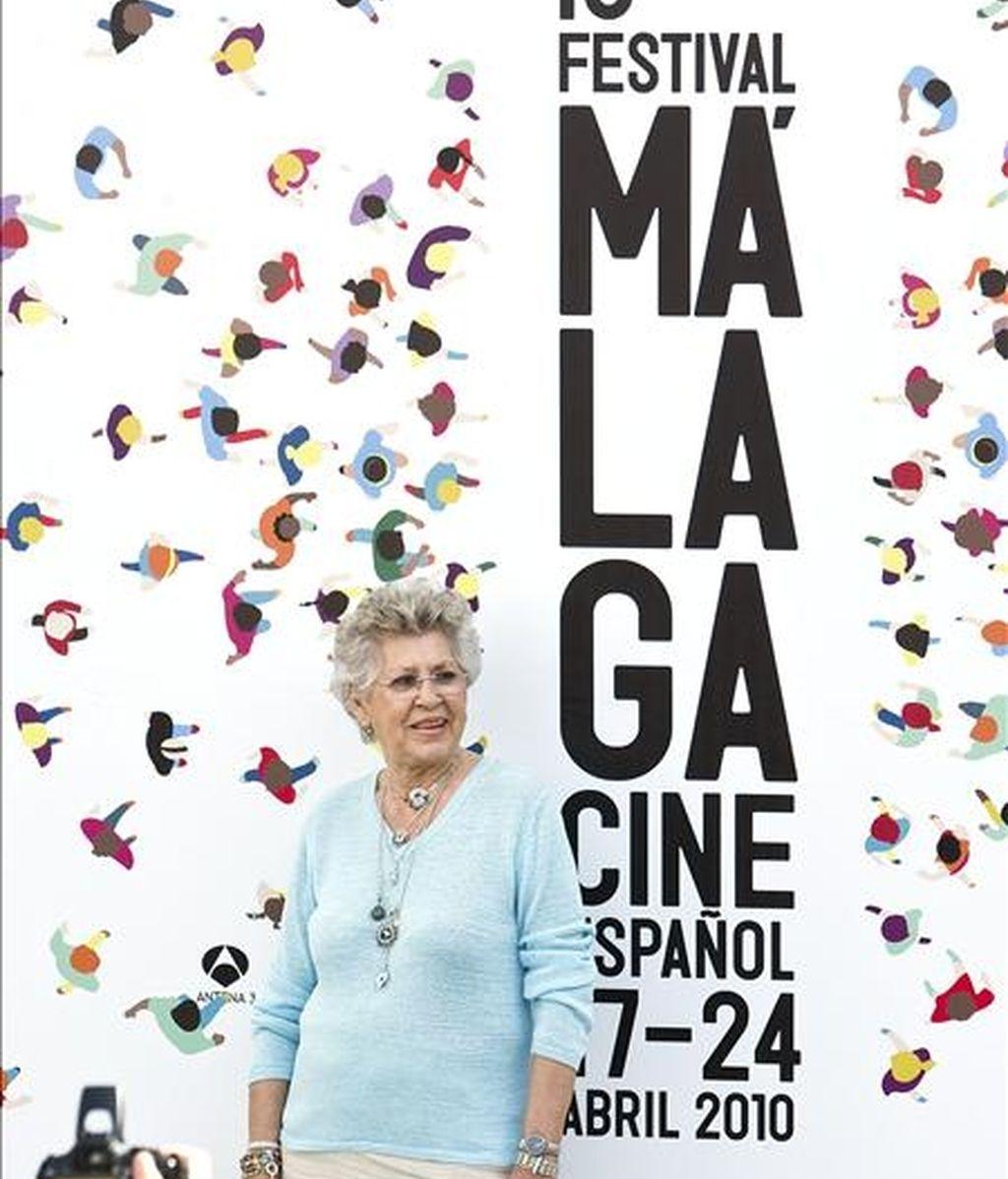 """La actriz Pilar Barden durante la presentación en el XIII Festival de Cine Español de Málaga la película """"La Vida Empieza Hoy"""". EFE"""