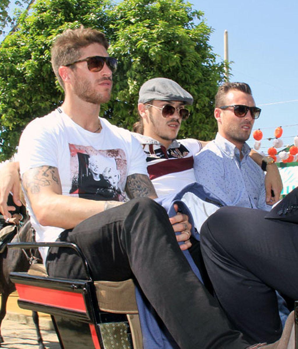 Sergio Ramos se escapa a Sevilla sin su chica