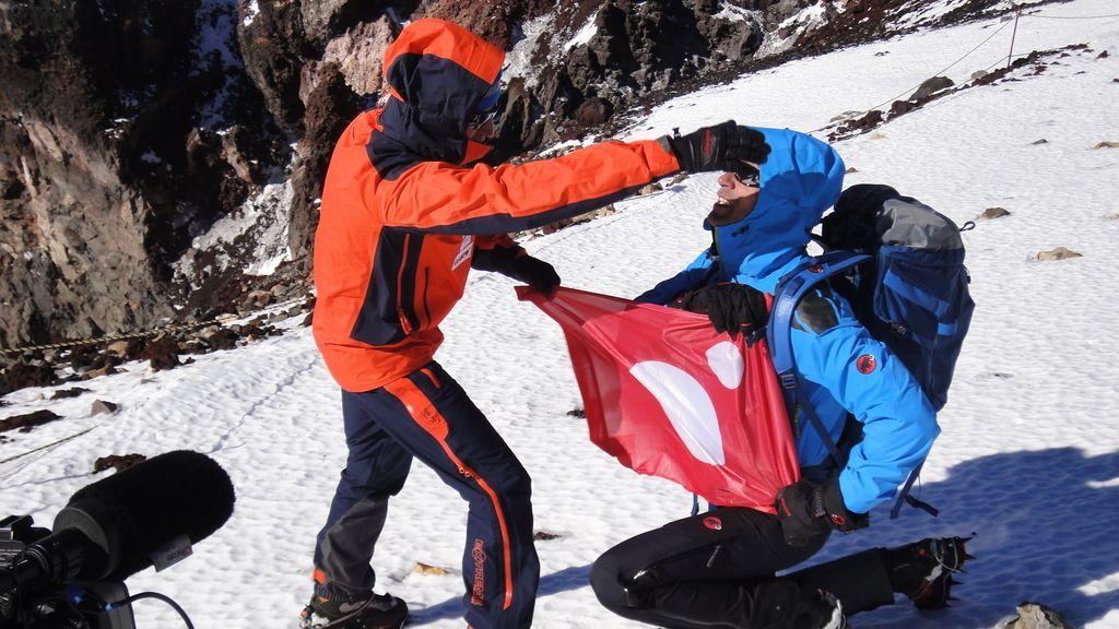 Calleja con Jesús Vázquez: ¡Desafío conseguido en la cumbre del Monte Fuji!