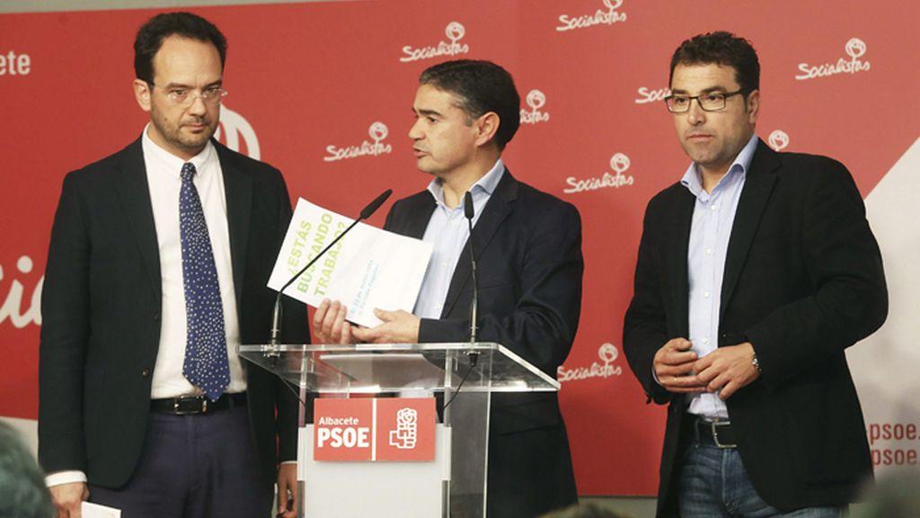Antonio Hernando, portavoz del PSOE en el Congreso, en Albacete