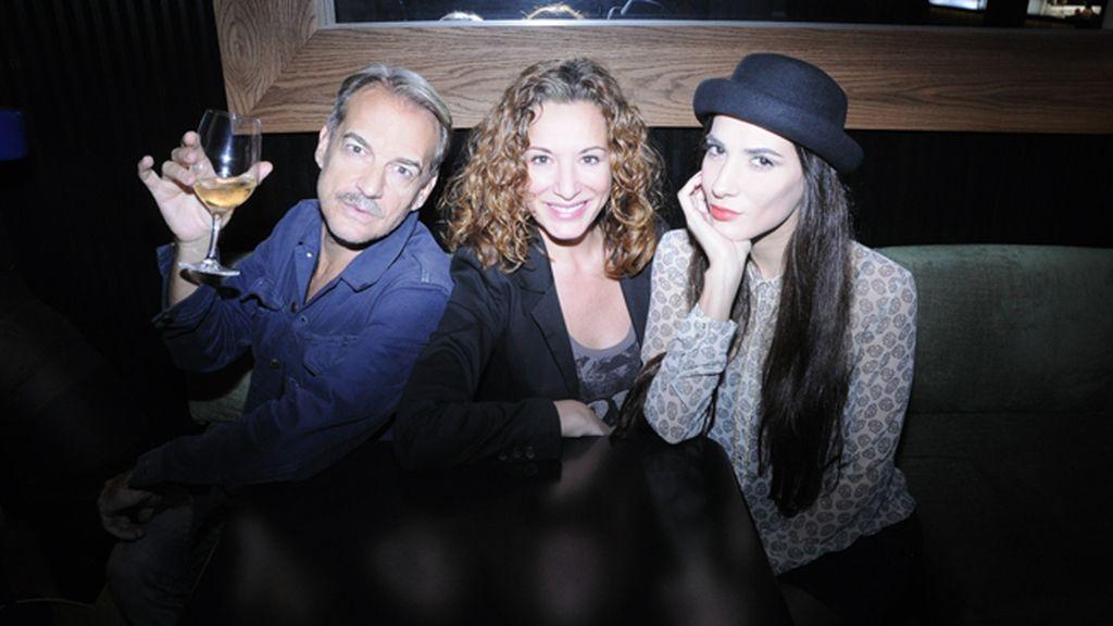 Antonio Albella, Eva Almaya y Cecilia Gessa