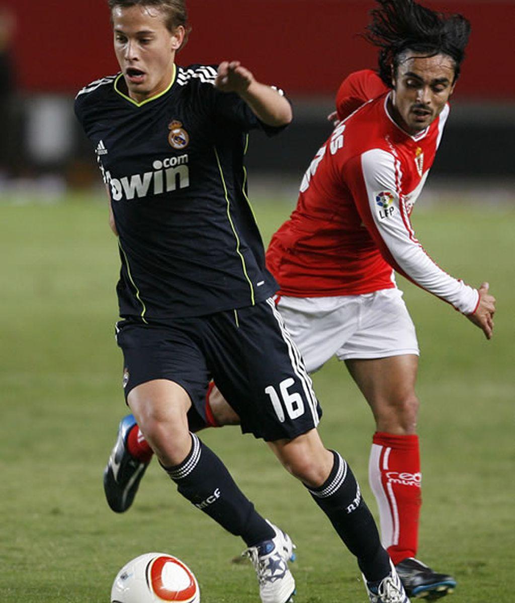 Canales en el partido de Copa del Rey contra el Murcia