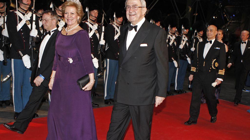 Los reyes de Grecia: Constantino y Ana María a llegada al DR Concert Hall