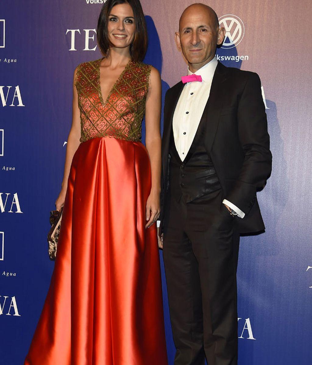 Modesto Lomba y la modelo María Reyes