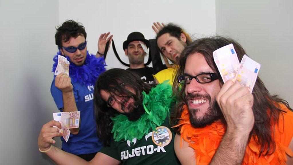 Los RockFest en el fotomatón de DUP