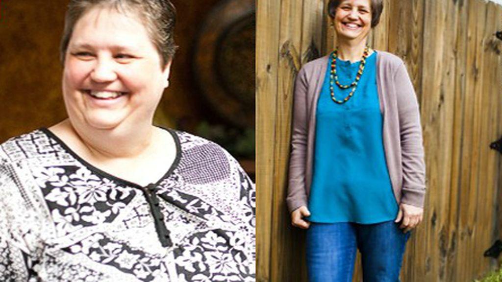 Una mujer deja las dietas y pierde 72 kilos