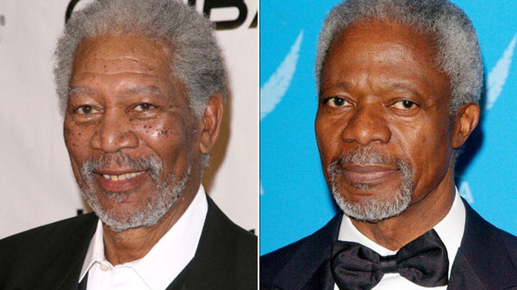 Morgan Freeman y Kofi Annan