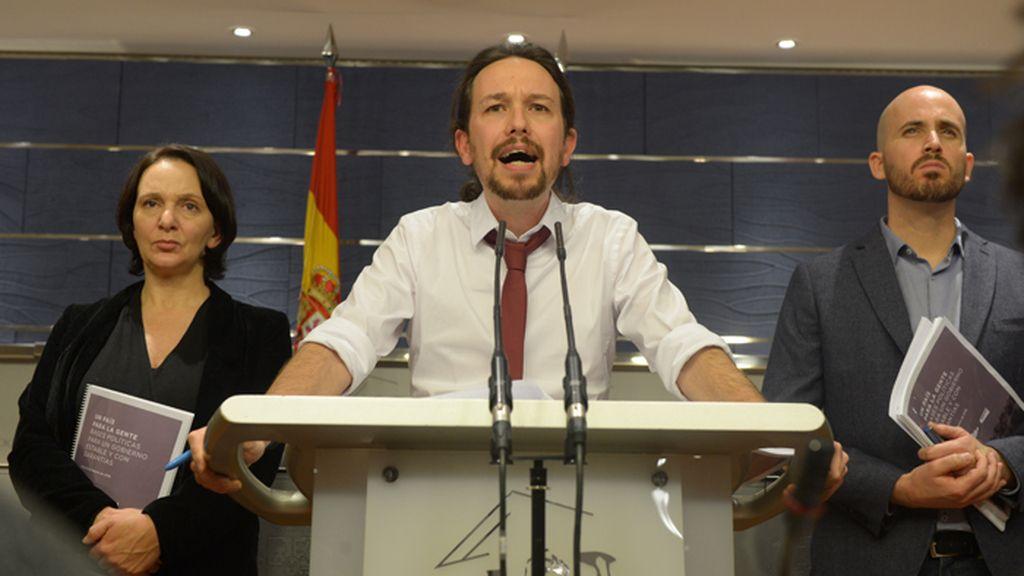Pablo Iglesias presenta su propuesta de Gobierno al PSOE