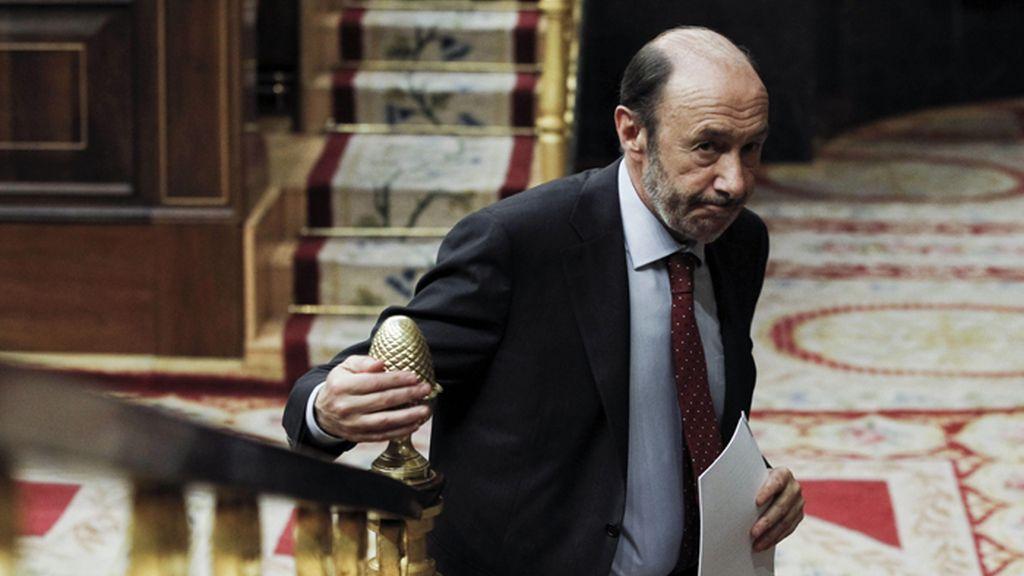 Rubalcaba interviene en el Pleno del Congreso que debate la consulta soberanista catalana