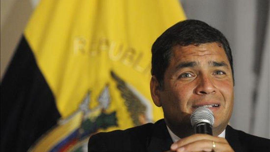 """Según Correa, esta es la """"primera vez que un Gobierno toma el toro por los cuernos"""" y se propone resolver una polémica sobre la deuda exterior. EFE/Archivo"""