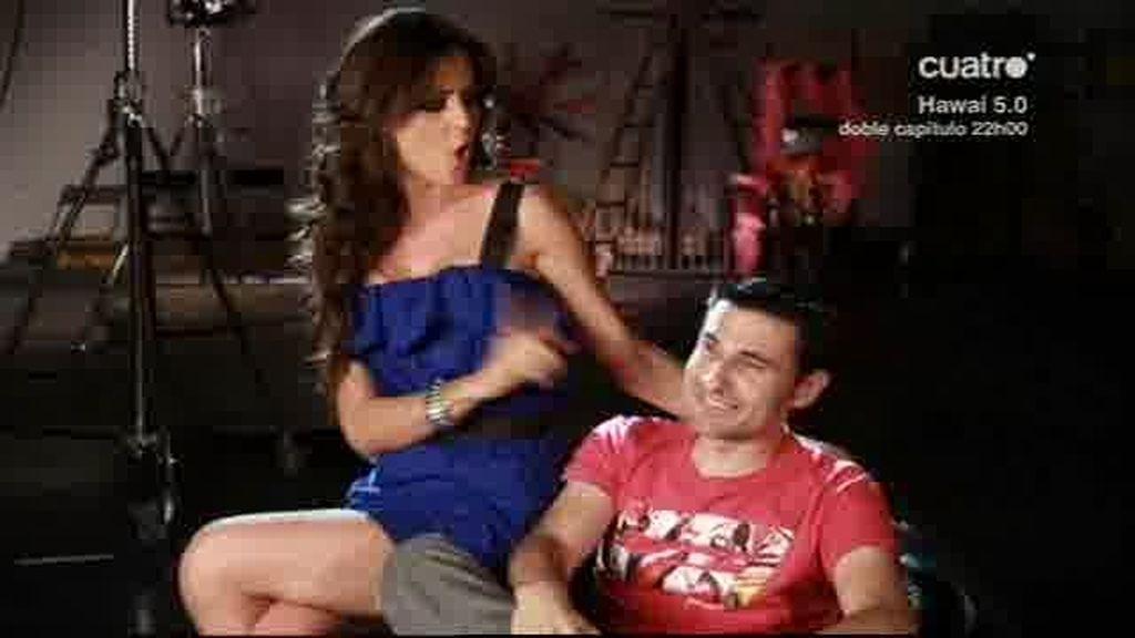 Romina y Valdi después del beso