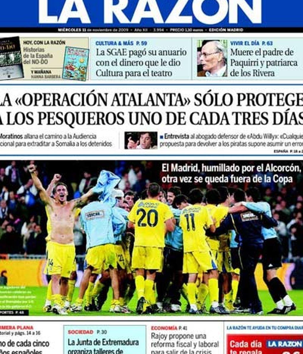 'El Madrid, humillado por el Alcorcón'