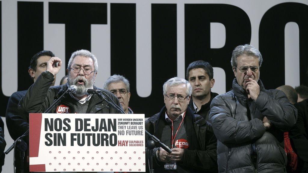 Manifestación en Madrid con motivo de la huelga general del 14-N