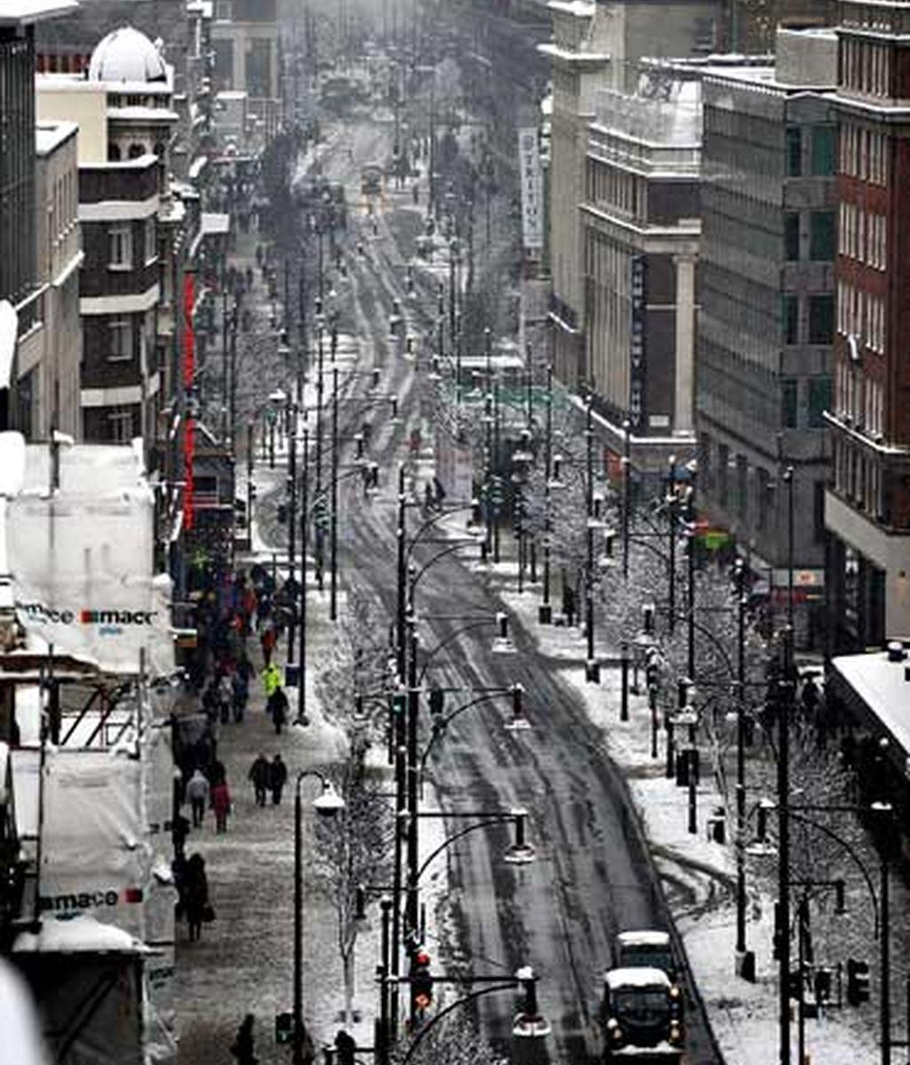 Vista de Londres tras la intensa nevada. Los servicios meteorológicos ya han advertido de que la nieve puede superar los 20 centímetros en el noreste de Inglaterra, Gales y parte de Escocia. Foto EFE