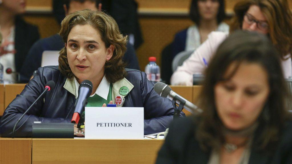 Ada Colau interviene ante el Comité de Peticiones del Parlamento Europeo
