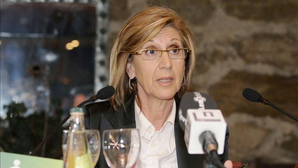 La portavoz en el Congreso de los Diputados de Unión, Progreso y Democracia (UPyD), Rosa Díez. EFE/Archivo