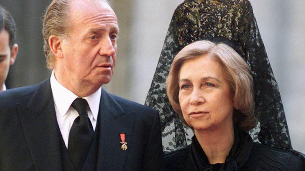 Funeral por la madre del Rey, Doña María de las Mercedes en 2000