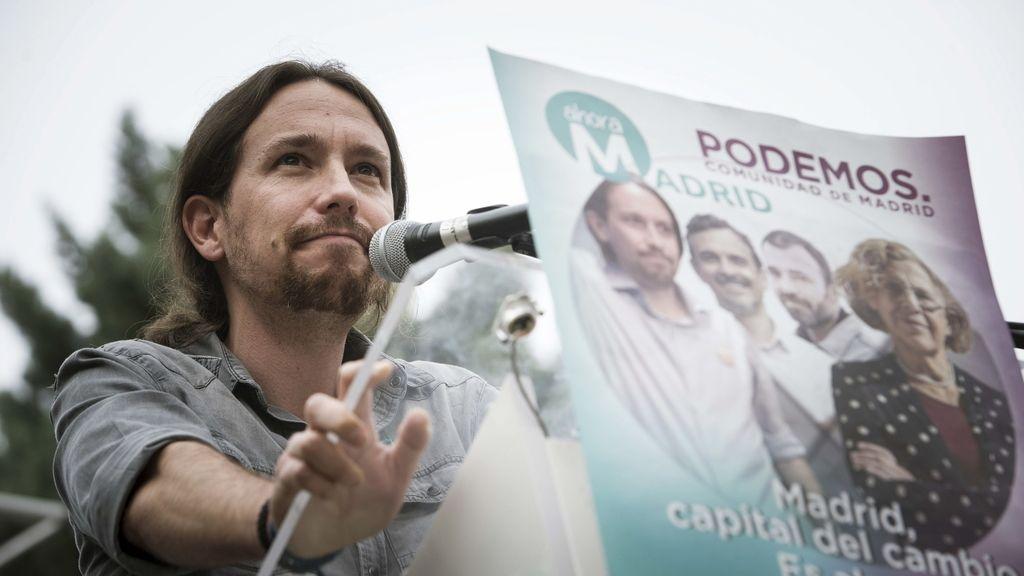 Mítin de Pablo Iglesias en Madrid